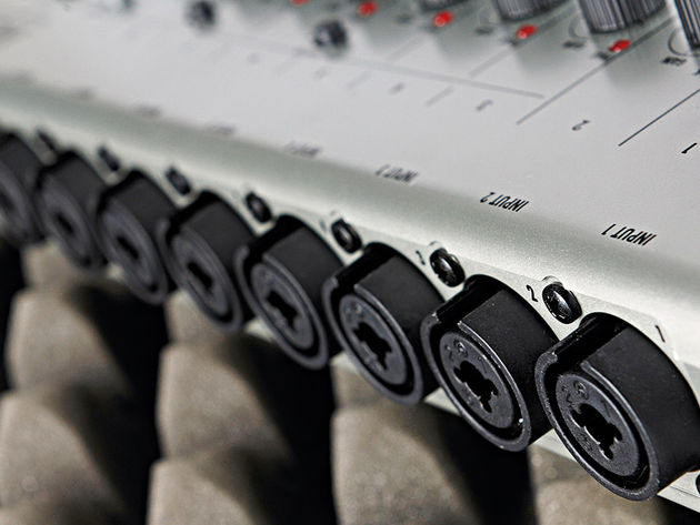 The R24 has eight XLR inputs.