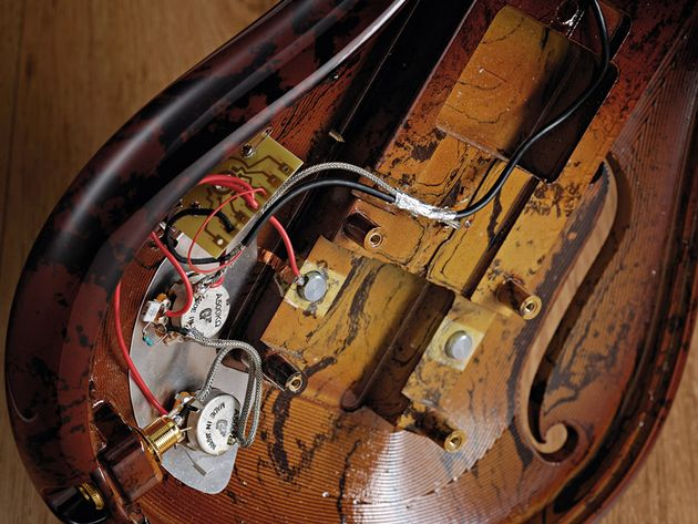 Unusual materials aside, the guitar's electrics are quite traditional.