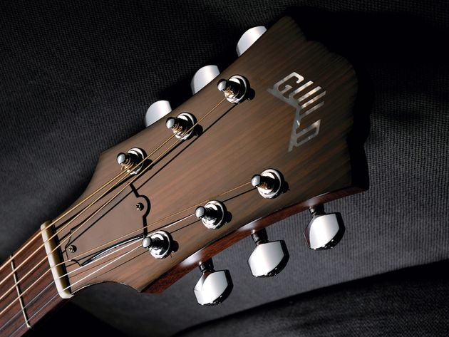 The distinctive Guild headstock is topped in rosewood.