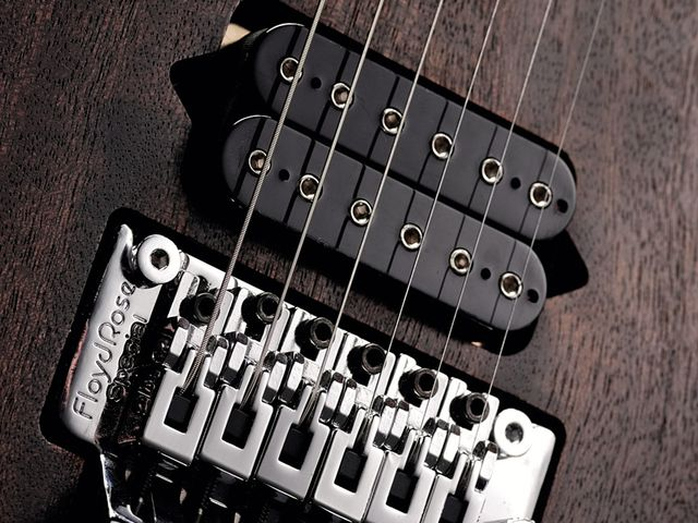 The Jaden Rose retains a metal vibe, so a Floyd Rose is the natural trem choice.