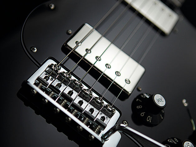 The twin humbuckers are coil-split in positions two and four