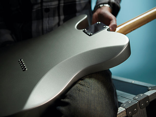 The Strat-style body contouring will appeal to those who find the usual slab body uncomfortable.