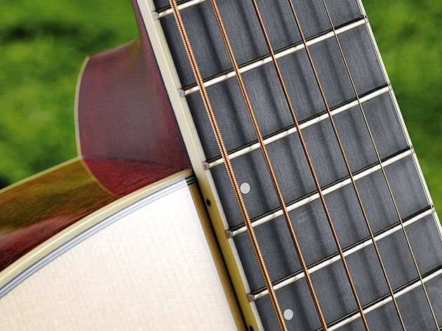 The guitar is clean, modern and simple-looking, but not drab.