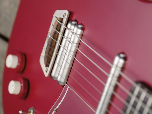 The dual-Lipstick humbucker adds some extra power to the proceedings.