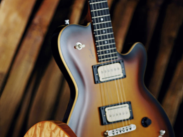 This guitar is a classic design with a new Godin twist.