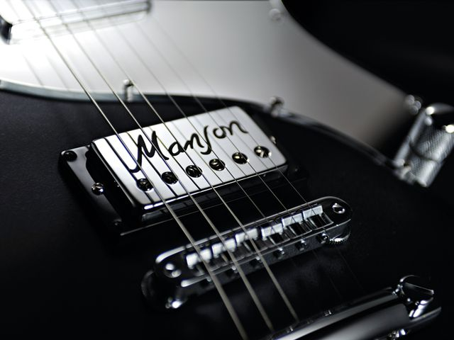 The MA-a uses the Manson/Bare Knuckle MBK-2 humbucker at the bridge,