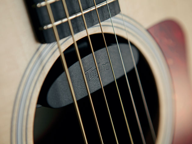 Taylor's new ES-Go pickup handles the plugged-in duties with aplomb.
