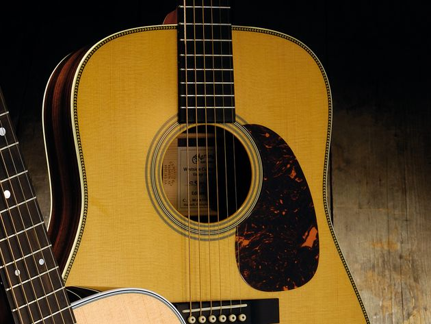 The guitar is made in Martin's Nazareth-based custom shop.