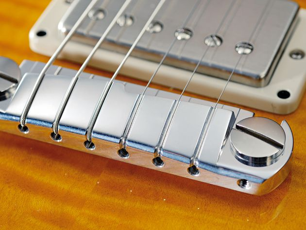 A PRS vibrato is standard, but the Stoptauk bridge like this is an option.