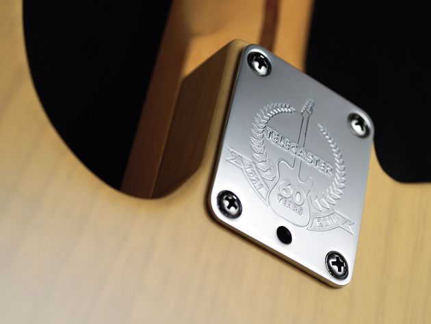 The guitar sports a 60th Anniversary neckplate.