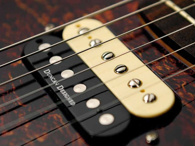 The Duncan Designed humbuckers give the Jag some rock power.