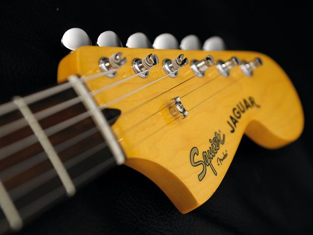 The headstock provides an interesting alternative to pointy designs.