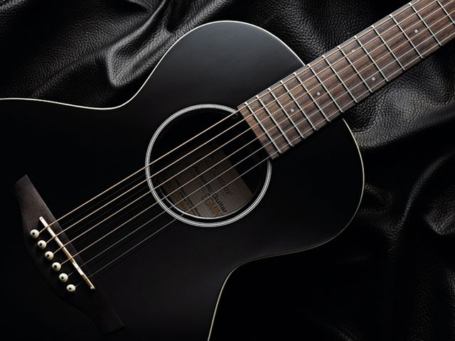 The Takamini is available as a pure acoustic or with a built-in undersaddle pickup.