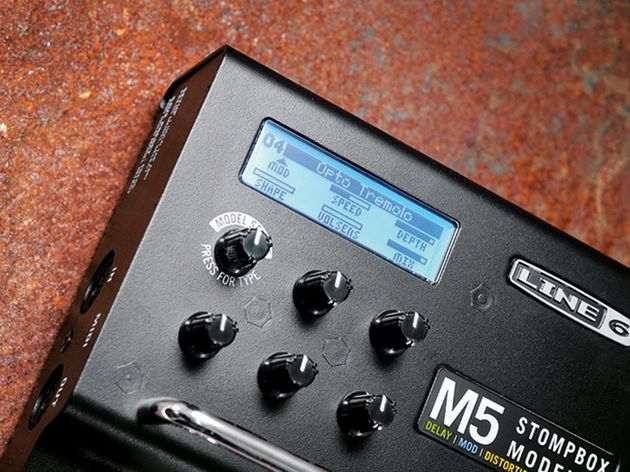 The M5 is small enough to add to a crowded pedalboard.