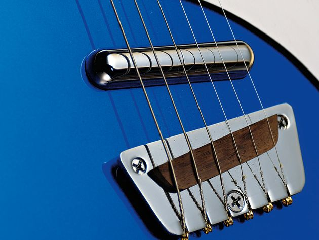 The Wild Thing boasts a pair of Dano Lipstick pickups.