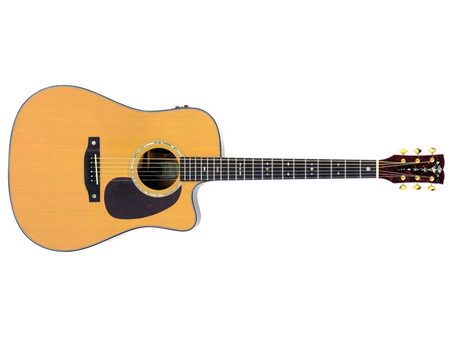 The styling reflects a bygone age of guitar.