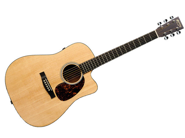 The DCPA4 is a dreadnought body with Venetian cutaways.