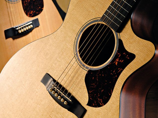 This guitar may use cheaper woods, but its construction is impressive.