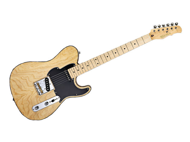 The ash veneer top and alder body give the guitar a natural look and a sparkling tonality.