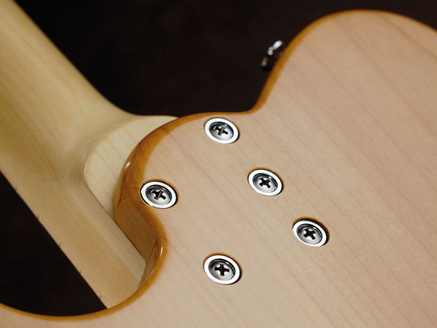The five-bolt neck joint keeps things snug and steady.