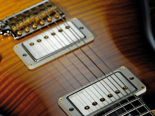 The 53/10 humbuckers are full of rock heritage.