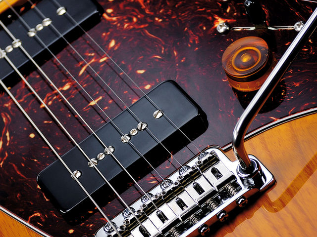 The Gotoh Strat-style tremolo keeps the tuning stable.