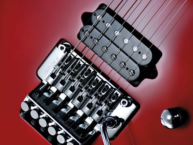 The Gotoh Floyd Rose unit offers excellent amounts of crazy whammy fun.