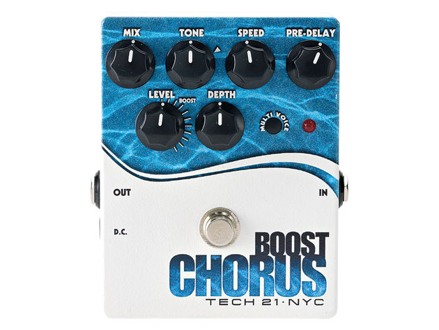 The Boost Chorus can create a vast range of sounds.