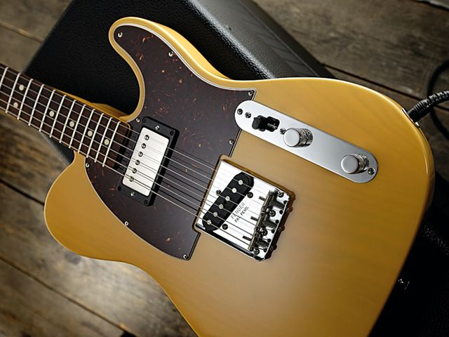 The Coxon has a milky translucent blonde poly finish.