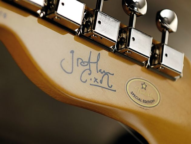 Graham has added his signature to his signature model.