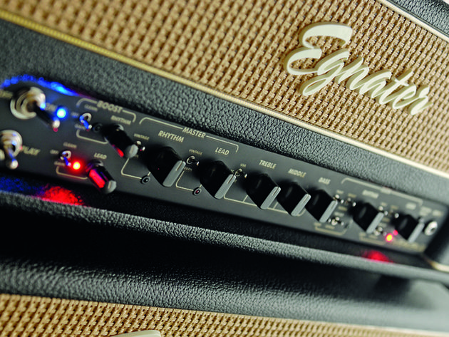 The 88 is covered in thick black Tolex with a straw grille, gold piping and black chrome metalwork.
