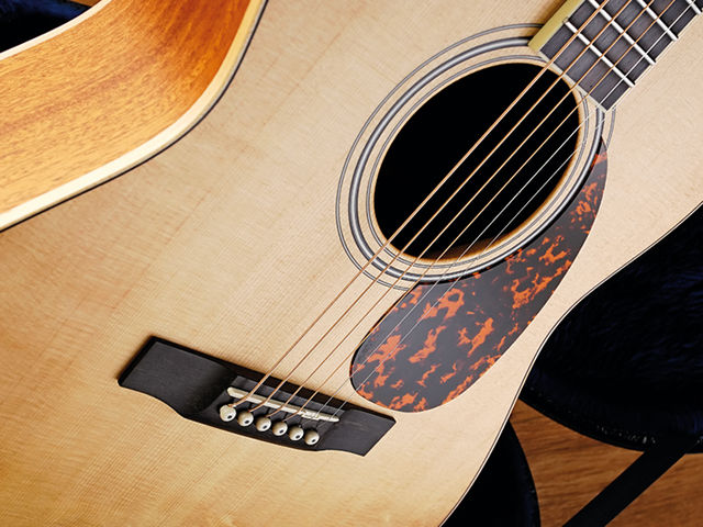 The L-02's top is solid Sitka spruce.
