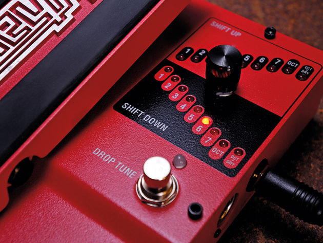 The drop tune switch provides shifting for all intervals up and down to a seventh.