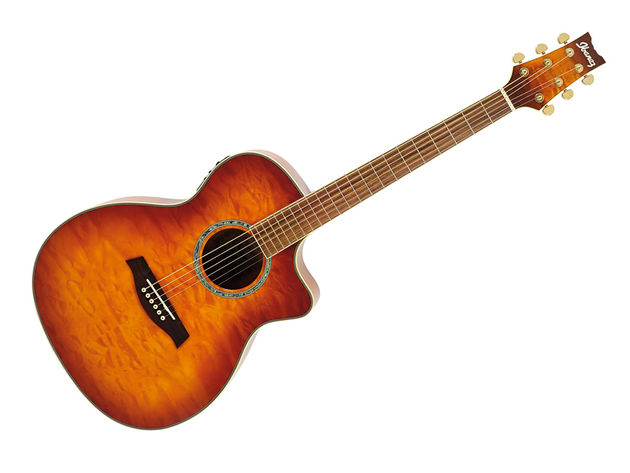 The A300E's cutaway provides easy access to the dusty end of the fretboard.