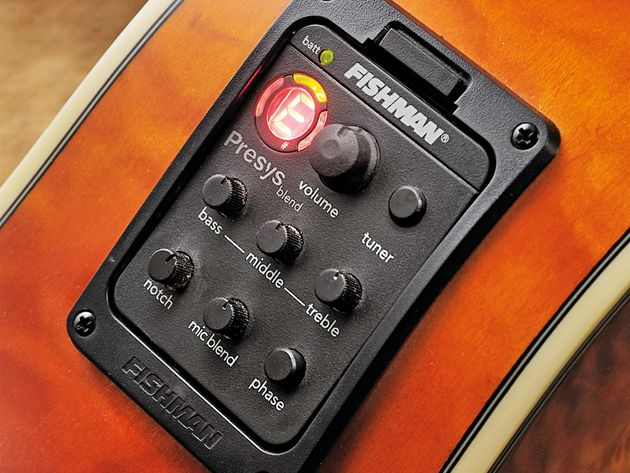 The A300E's Fishman Presys system makes it an accomplished electric performer.