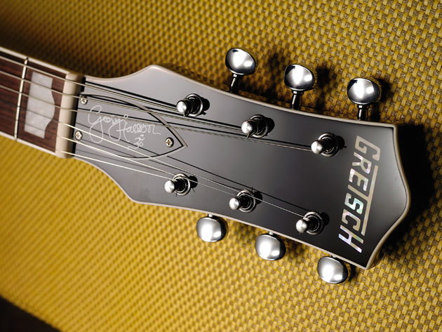 It's taken time for Gretsch to get George's signature on a headstock.