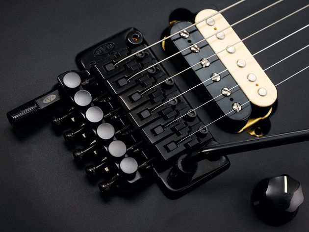 The EVH licensed Floyd Rose also features his now customary D-Tuna.