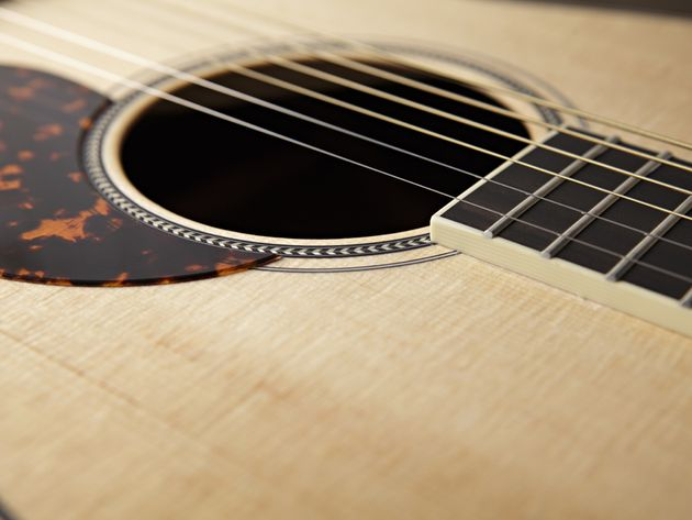 The oversized soundhole helps this little picker pack a big punch.