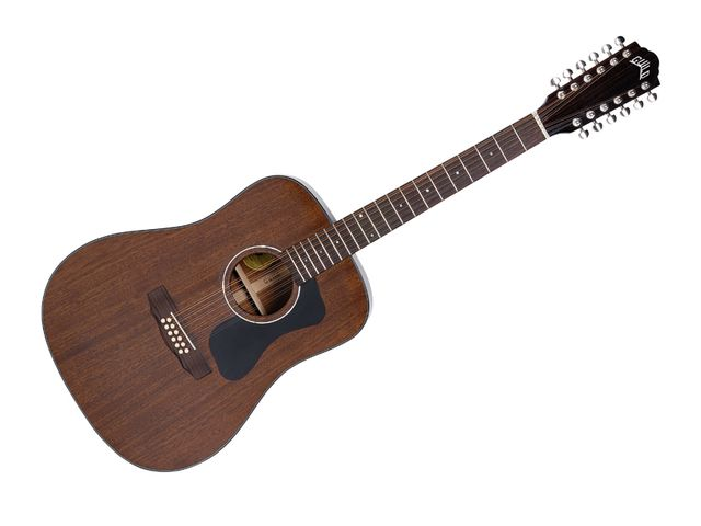 The D-125-12's neck is configured to be as player-friendly as possible.