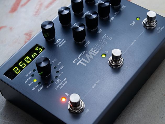 The TimeLine features a comprehensive array of delay effects.