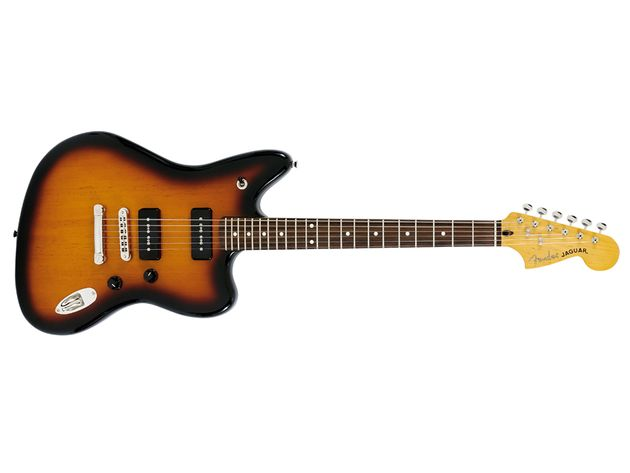 We love this Jag, but hate that Strat-style jackplate.