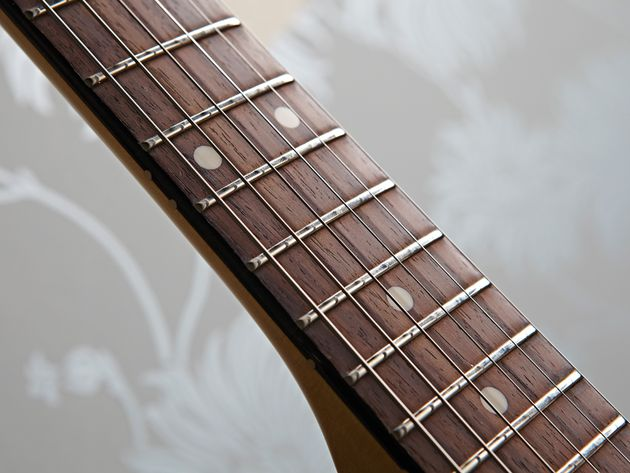 The Modern Player Jag packs a thin, 'C' profile maple bolt-on neck.