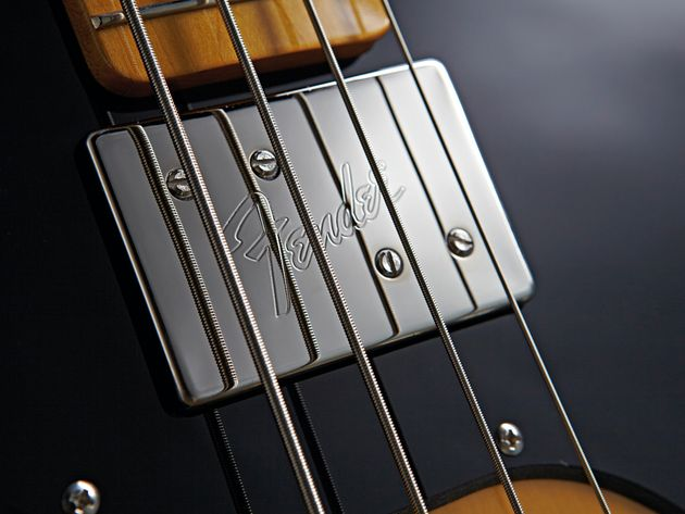 The Wide Range humbuckers produce a more throaty sound than most Fender basses.