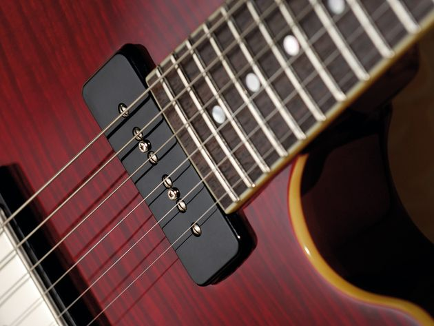 With humbucker, P-90 and piezo sounds on board, the Elise isn't short of sonic options.