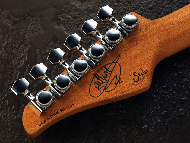 The Gotoh locking tuners are another example of the GG's high-spec approach.