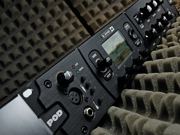 The POD HD Pro's front-panel connectivity only adds to its versatility.
