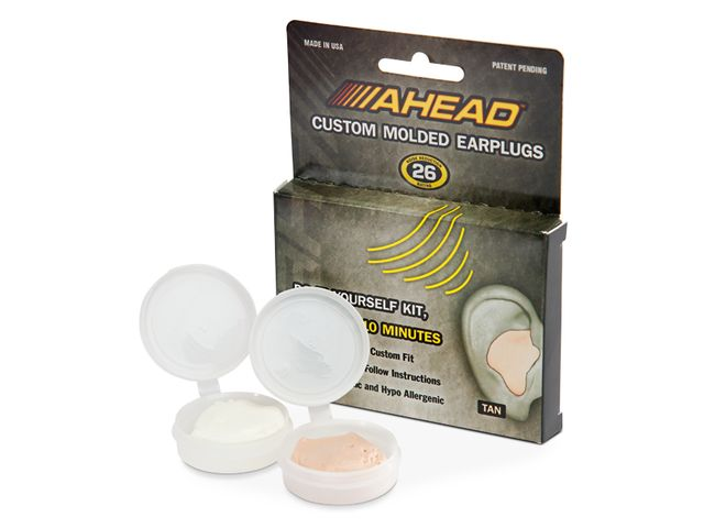 Ahead's Custom Molded Earplugs form a neat solution to hearing protection.