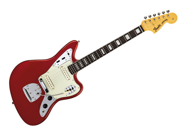 The 50th Anniversary Jaguar features hotter pickups and a slightly increased neck pitch.