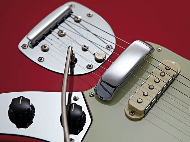 The 50th Anniversary has a repositioned tremolo plate to increase break angle.