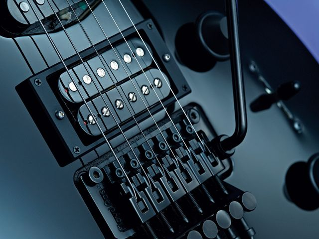 Double humbuckers are standard across GJ2 the range; black hardware is extra.